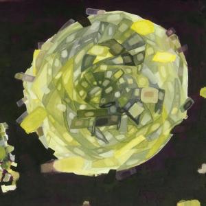 Gouache/ bol/ kunst/ yellow
